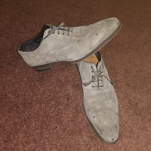 Magnanni Wingtip suede leather shoes